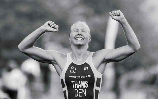 Line Thams vinder DM Triathlon 2014, Hotel Koldingfjord.
